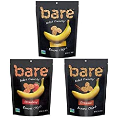 Contains 6 - 2.7 ounce resealable bags (2 Simply, 2 Cinnamon, 2 Cocoa) Real bananas, baked 'til they're crave-ably crunchy. Snacks gone simple. Just one or two simple ingredients! Baked, never fried. Gluten free, dairy free, no added oil, good source...
