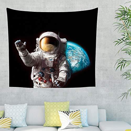 Tapiz de pared vintage de astronauta – manta de playa para cortina blanca 231 x 149 cm