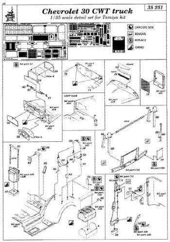 Eduard Accessories 35251 Kit de modélisme pour Chevrolet 30 CWT