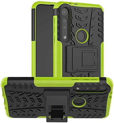 Lapinette Funda Compatible con Motorola Moto G8 Plus Antigolpes - Carcasa Moto G8 Plus Protección Antigolpes - Funda Motorola Moto G8 Plus Antigolpes Rígida Modelo Spider Verde