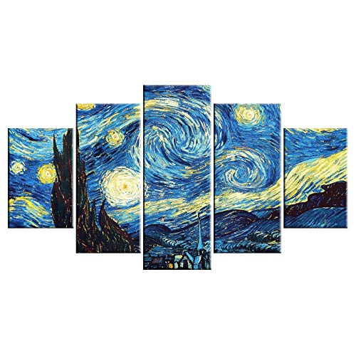5 Canvas paintings Home Decoration Fashion Wall Prints Star Shadow Canvas Painting Cuadros Art Pictures For Living Room Frameless