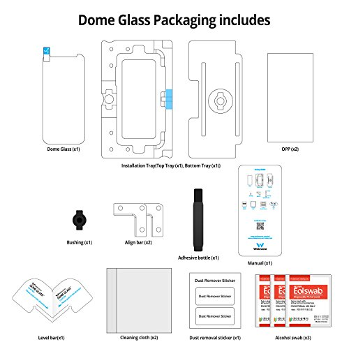 Galaxy S8 Screen Protector Tempered Glass Shield, [Liquid Dispersion Tech] 3D Curved Full Coverage Dome Glass, Easy Install Kit and UV Light by Whitestone for Samsung Galaxy S8 (2017) - Seesaw Version