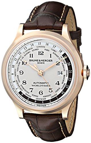 Baume-et-mercier Capeland Damen 44mm Automatikwerk Braun Leder Armband Uhr 10107
