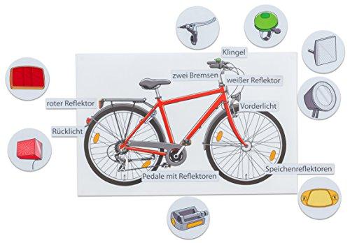 Betzold 754488 - Das verkehrssichere Fahrrad - Verkehrserziehung mit 17 magnetischen Wort- und Bildkarten, deutsch und englisch
