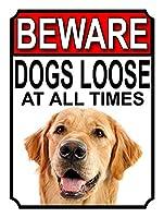 Beware Dogs Loose at all Times ティンサイン ポスター ン サイン プレート ブリキ看板 ホーム バーために