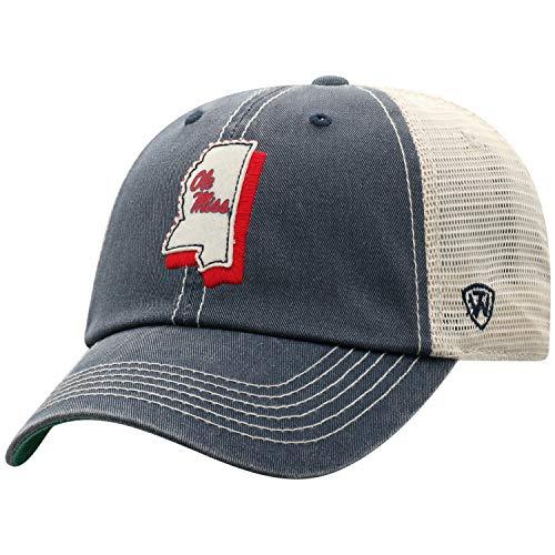 Top of the World Mississippi Old Miss Rebels Men's Adjustable Off Road Mesh State Icon hat, Adjustable