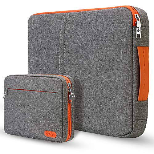 Simboom 13,3 Pollici Sleeve Laptop Tablet con Piccolo Caso, Portatile Custodia Borsa Antiurto compatibile con Macbook 13 '13.3' Air / Pro Asus, Acer, Dell, Lenovo, Toshiba, Grigio Scuro