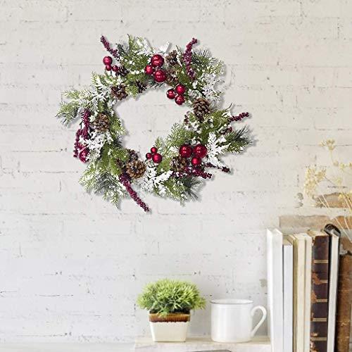 Xiongz Guirnalda de Navidad para puerta de entrada, decoración multi festival, guirnalda de puerta artificial de ratán para decoración del hogar, adornos de Navidad, Acción de Gracias (color: A)