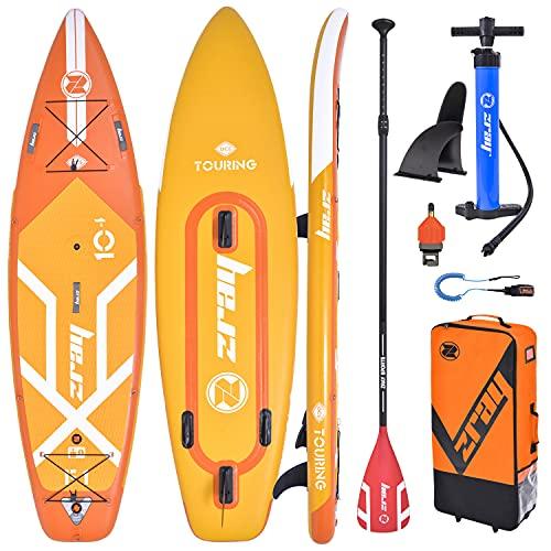 Zray Tabla de surf de remo F1 Fury de 10,4 pulgadas, tabla de surf de remo, hinchable, de alta calidad, incluye remo, bolsa, bomba y aleta