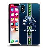Head Case Designs Licenciado Oficialmente NFL Casco Logotipo de Seattle Seahawks Carcasa de Gel de Silicona Compatible con Apple iPhone X/iPhone XS
