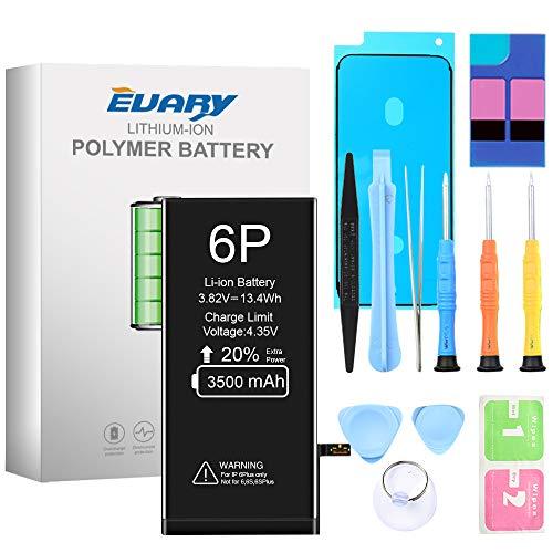 EVARY Akku für iPhone 6 Plus 3500mAh, Ersatzakku mit hoher Kapazität, mit Werkzeugset und Reparaturset Akku-Austausch Anleitung, Kompatibel mit Apple 6P, 24 Monate Gewährleistung
