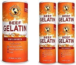 Great Lakes, Beef Gelatin, 16 Oz 4-Pack, Kosher, Paleo-Friendly, Keto Certified, Gluten Free, Non-GMO