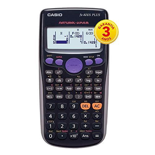 Calculadora Científica 252 Funções, Casio, FX-82ESPLUS, Visor 4 Linhas, Preto