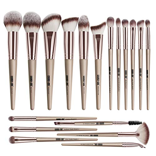 Make-up Pinsel Set 20 PCs Make-up Pinsel Premium Synthetische Kontur Concealer Foundation Puder Lidschatten Make-up Pinsel mit Champagner Gold Griff