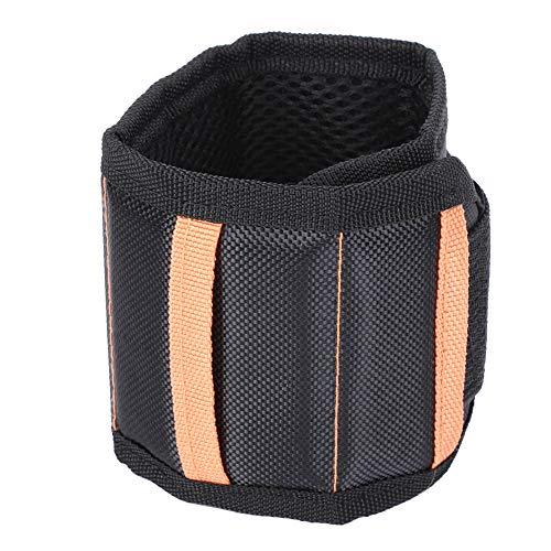 Weikeya Correa de muñeca magnética, correas para herramientas de exterior, 400 mm, con bolsillo de almacenamiento de fibra de poliéster 1680D