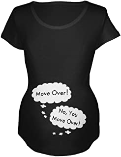 Speech Bubble Arguing Twins Move Over Black Maternity Soft T-Shirt