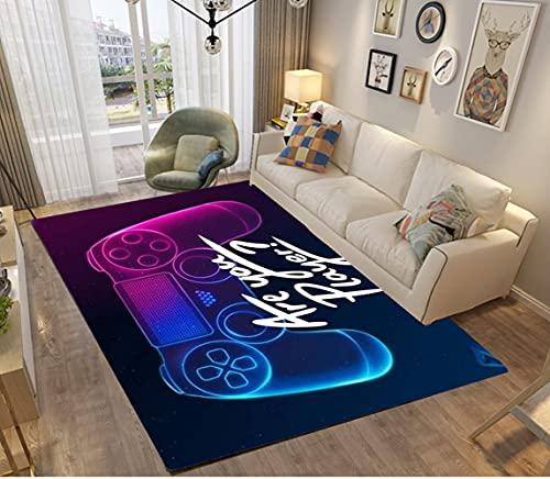 Alfombras Dormitorio Juvenil Chico Infantiles Niño Juegos 3D Gamer Galaxia Alfombras De Habitacion Rectangular Lavables Pelo Corto Vinilicas Grandes Pequeñas Alfombras Salon (Azul,120x160 cm)