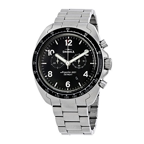 Shinola The Rambler 600 Black Dial Titanium Chronograph Mens Watch 12007930