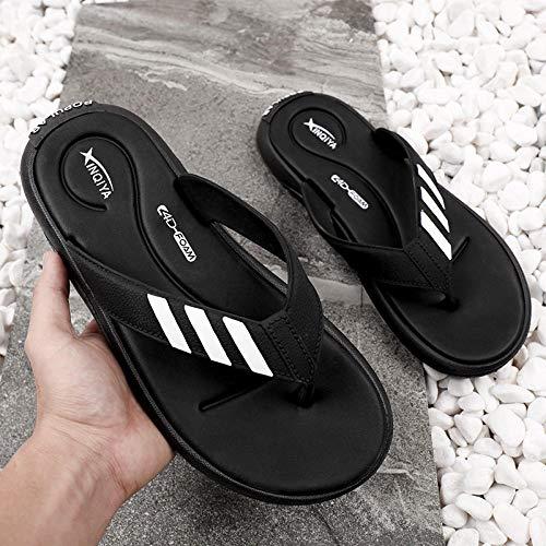 Anlemi Zapatillas de Estilo para el hogar,Chanclas para Hombre,Calzado Personalizado Desodorante Antideslizante-Negro_40,Zapatillas Antideslizantes Libre Baño