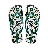 Zapatillas de Verano Femeninas Sandalias Planas Femeninas del Resbalón Plano Zapatos de Playa (Color : Green, Tamaño : 36)