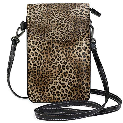 ClownFish Animal Leopard Print Mini bolsos de hombro cruzados Monedero para celular Billetera Bolsa Bolso...