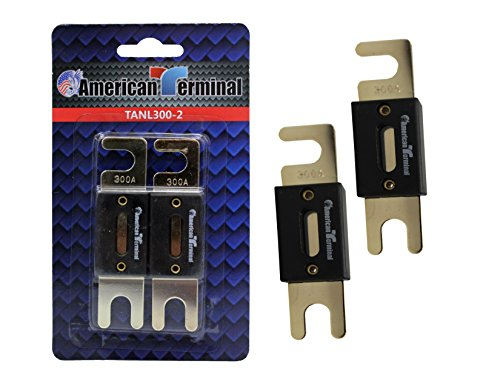 American Terminal TANL300-2 ANL Fuses with Gold Plated Finish (Pack of 2)