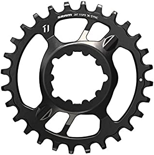 SRAM X-Sync Steel Direct Mount Chain Ring 28 Teeth 6mm Offset, Black