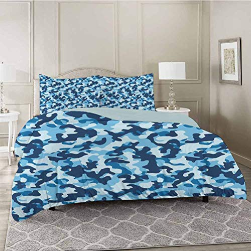 YUAZHOQI 3 Pieces Bedding Duvet Cover Set, Costume Pattern with Vibrant Color Palette Abstract Composition Concealment, Soft Microfiber Bedding,Wrinkle, Fade, Stain Resistant, King Size