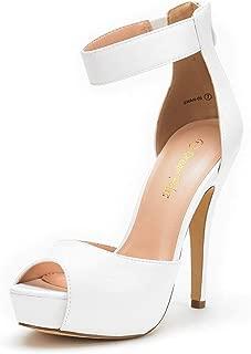 Women's Swan High Heel Platform Dress Pump Shoes