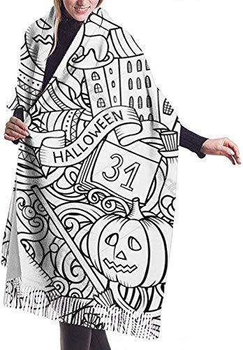 zengdou Bufanda de dibujos animados para Halloween, cachemir, snorkel para el invierno, caliente para mujer