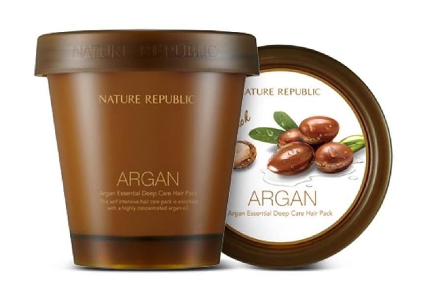 マイナスパラナ川アテンダント【Nature Republic】アルガンエッセンシャルディープケアヘアパック(200ml)ARGAN ESSENTIAL Deep Care Hair Pack