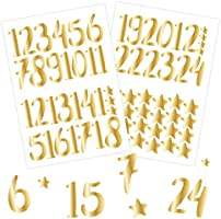 Papierdrachen 24 adventskalendernummer klistermärken - guld | nummer 70 - klistermärken för din julkalender - för pyssel...