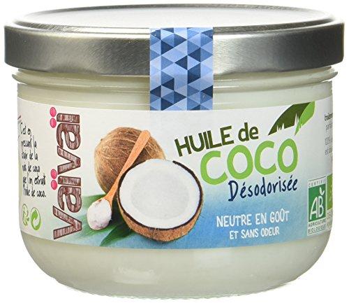 Vaïvaï - Huile de Coco Désodorisée - Huile de Cuisson Bio, 100% Vegan - Sans Goût ni Odeur - 1 Pot de 400ml