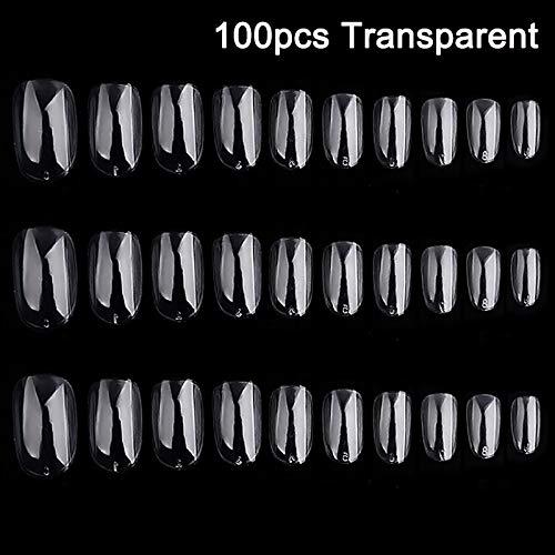 Dastrues 100/500 Unids Larga Bailarina Forma de Ataúd Cubierta Completa Falsas Falsas Uñas Art Tip DIY