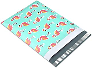 UCGOU 12x15.5 Inch Flamingo Designer Poly Mailers 2.35MIL Shipping Envelope Mailers Boutique Custom Bags Pack of 100
