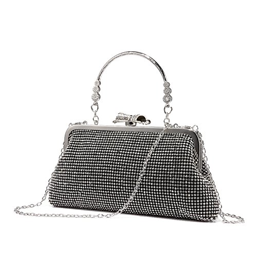 Abendtasche Damen Umhängetasche Handtasche Schultertasche Mode Strass Clutch Glitzer Tasche mit...