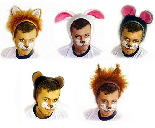 Faschingskostüm Fuchs Mütze mit Ohren Kappe Hut Fuchs Karneval Kostüme für Kinder älter als 9 Jahre, Herren Männer Frauen Festtage Größe L/XL Geschenk