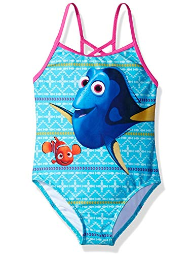 Disney Mädchen Finding Nemo Dory Bademode Badeanzug 43591 Blau/Rosa One Piece