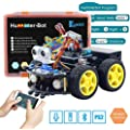 Keywish Smart Robot Car Kit for Arduino DIY Learning Kit,4WD Remote Control Car with UNO R3,Tutorial,Bluetooth Modules,Line Tracking,Ultrasonic Sensors Toy Robotic Kit Gift Kid Support Scratch Library