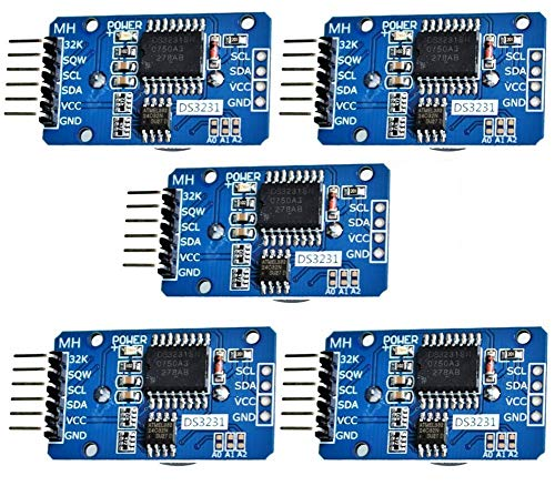DaoRier DS3231 AT24C32 Real Time Clock RTC High Precision Clock Modul IIC Modul-Speichermodul für Arduino Raspberry Pi Mikrocontroller (5PCS)
