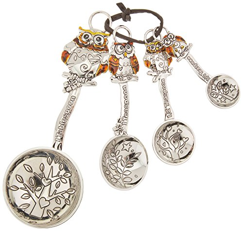Silver Owl Measuring Spoons