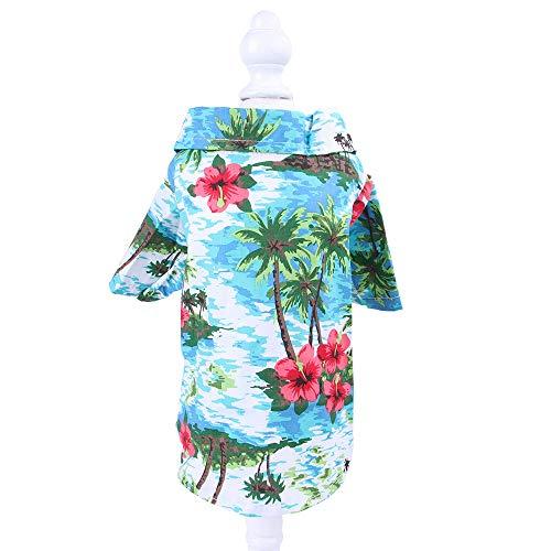 jinda Sommer Bedrucktes Hemd Kleine Und Mittlere Teddy Shiba Inu Haustier Kleidung Haustierzubehör L37 * 30 cm / 3,5 kg BK