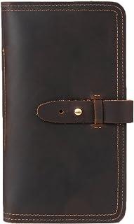 Genda 2Archer Men Women Leather Multi-Purpose Travel Wallet Card Passport Holder (Coffee)