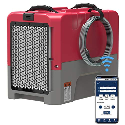 ALORAIR Storm LGR Extreme Smart WiFi Commercial Dehumidifier with Pump, 180 PPD at AHAM, 5 Years Warranty, cETL Listed, Memory Starting, for Damage Restoration, Crawlspace and Basement Drying, Red