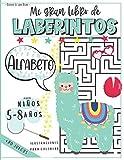 Mi Gran Libro de Laberintos para niños 5-8 años: Cuaderno con + de 80 Juegos educativos para divertirse con las palabras