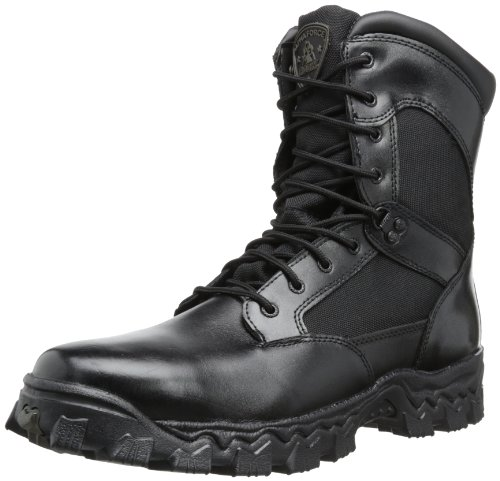 "Rocky Duty Men's Alpha Force 8"" Zipper Boot,Black,11 M"