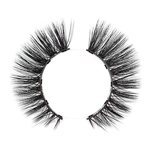TOOGOO 1Set Magnetic False Eyelashes Imperméabilisation Imperméabilisation Fait Main Facile à Magnetic Lashes Femmes Maquillage Lashes Doha