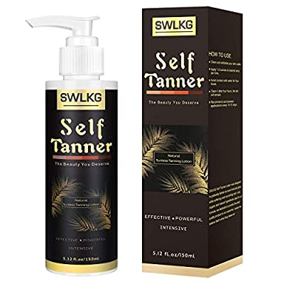 Self Tanner Sunless Tanning Lotion with Organic & Natural Ingredients for Darker Bronzer Skin