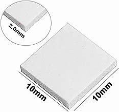 Wathai Off-White 100pcs 10x10x2mm Thermal pad GPU CPU PS3 PS2 Heatsink Cooling Silicone Pad