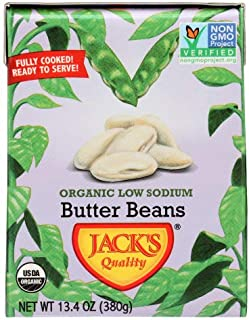 Jacks Quality Beans Butter Low Sodium Organic, 13.4 oz